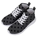 Large Black Polka Dots On Beluga Grey - Women s Lightweight High Top Sneakers View2