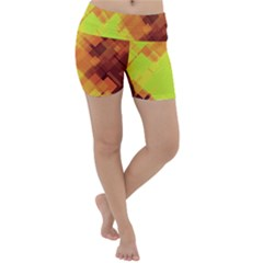 Geo Abstract 1 Lightweight Velour Yoga Shorts