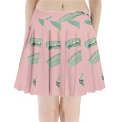 Palm Leaf On Pink Pleated Mini Skirt by goljakoff