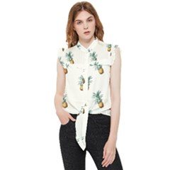 Tropical Pineapples Frill Detail Shirt
