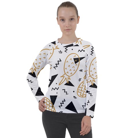 Golden Pineapples Women s Long Sleeve Raglan Tee by goljakoff