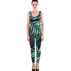 Green Leaves One Piece Catsuit by goljakoff