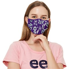 Floral Blue Pattern Fitted Cloth Face Mask (adult) by MintanArt