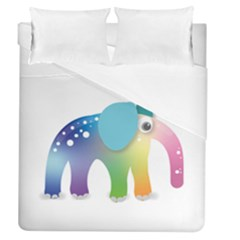 Illustrations Elephant Colorful Pachyderm Duvet Cover (queen Size)