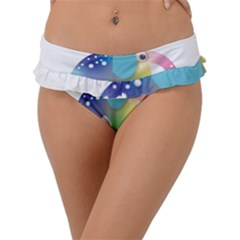 Illustrations Elephant Colorful Pachyderm Frill Bikini Bottom