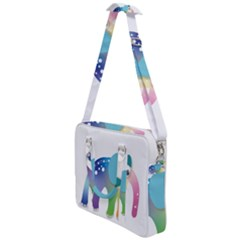 Illustrations Elephant Colorful Pachyderm Cross Body Office Bag