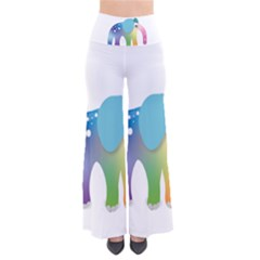 Illustrations Elephant Colorful Pachyderm So Vintage Palazzo Pants