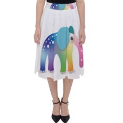 Illustrations Elephant Colorful Pachyderm Classic Midi Skirt