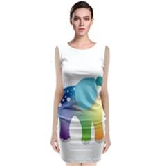 Illustrations Elephant Colorful Pachyderm Classic Sleeveless Midi Dress