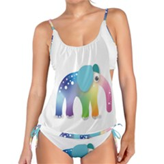 Illustrations Elephant Colorful Pachyderm Tankini Set