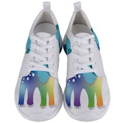 Illustrations Elephant Colorful Pachyderm Men s Lightweight Sports Shoes