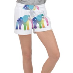 Illustrations Elephant Colorful Pachyderm Velour Lounge Shorts