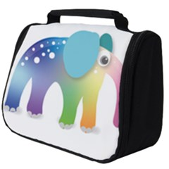 Illustrations Elephant Colorful Pachyderm Full Print Travel Pouch (big)