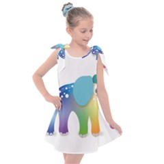 Illustrations Elephant Colorful Pachyderm Kids  Tie Up Tunic Dress