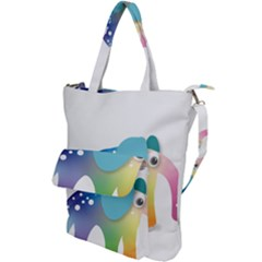 Illustrations Elephant Colorful Pachyderm Shoulder Tote Bag