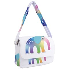 Illustrations Elephant Colorful Pachyderm Courier Bag