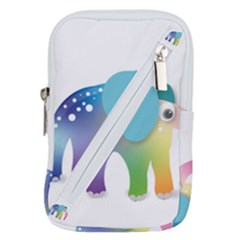 Illustrations Elephant Colorful Pachyderm Belt Pouch Bag (small)