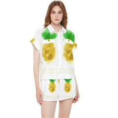 Pineapple Fruit Watercolor Painted Chiffon Lounge Set