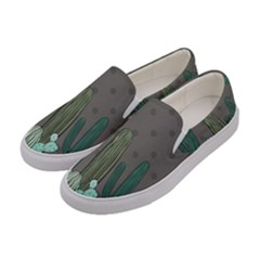 Cactus Plant Green Nature Cacti Women s Canvas Slip Ons by Mariart