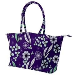 Floral Blue Pattern  Canvas Shoulder Bag