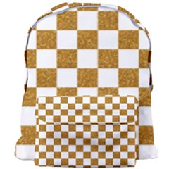 Checkerboard Gold Giant Full Print Backpack