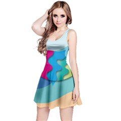 Illustrations Fish Sea Summer Colorful Rainbow Reversible Sleeveless Dress