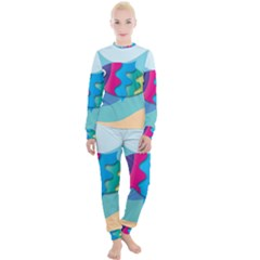 Illustrations Fish Sea Summer Colorful Rainbow Women s Lounge Set