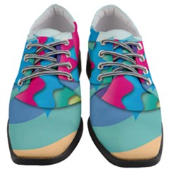 Illustrations Fish Sea Summer Colorful Rainbow Women Heeled Oxford Shoes