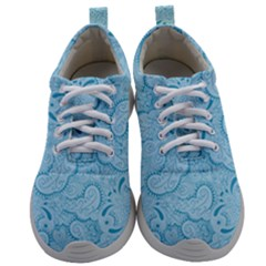 Blue Lines Pattern Mens Athletic Shoes