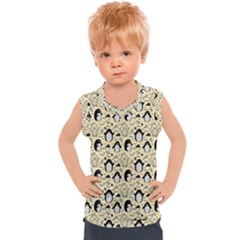 Cute Penguin Love Kids  Sport Tank Top