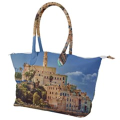 Old Jaffa Cityscape, Israel Canvas Shoulder Bag