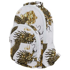 Dragon Animals Monster Rounded Multi Pocket Backpack