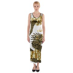 Dragon Animals Monster Fitted Maxi Dress