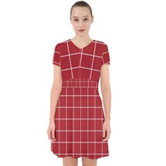 Red Plaid Adorable In Chiffon Dress