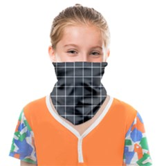 Gray Plaid Face Covering Bandana (kids) by goljakoff