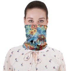 Butterfly And Flowers Face Covering Bandana (adult) by goljakoff