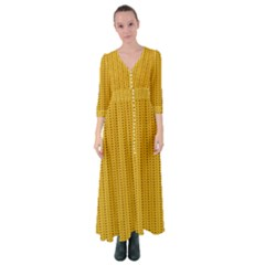 Knitted Pattern Button Up Maxi Dress by goljakoff
