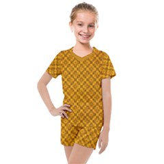 Golden 12 Kids  Mesh Tee And Shorts Set