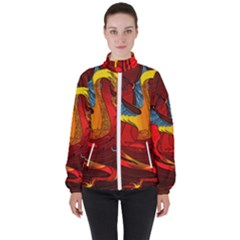 Dragon Metallizer Women s High Neck Windbreaker