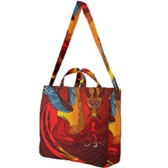 Dragon Metallizer Square Shoulder Tote Bag