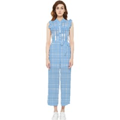 Blue Knitting Women s Frill Top Jumpsuit by goljakoff