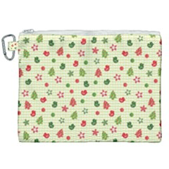 Cute Christmas Pattern Canvas Cosmetic Bag (xxl)