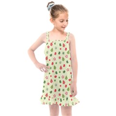 Cute Christmas Pattern Kids  Overall Dress