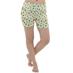 Cute Christmas Pattern Lightweight Velour Yoga Shorts