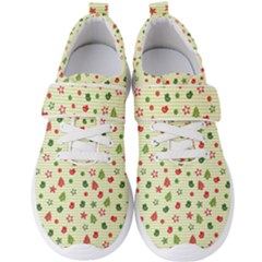 Cute Christmas Pattern Men s Velcro Strap Shoes