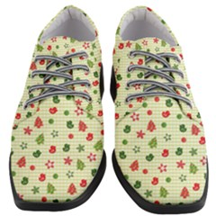 Cute Christmas Pattern Women Heeled Oxford Shoes