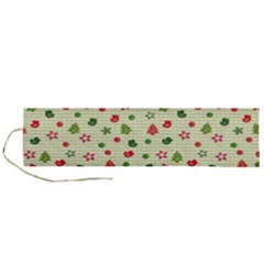 Cute Christmas Pattern Roll Up Canvas Pencil Holder (l)