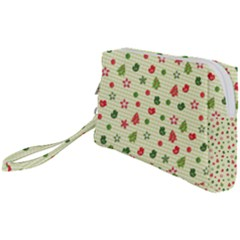 Cute Christmas Pattern Wristlet Pouch Bag (small)