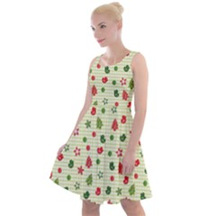 Cute Christmas Pattern Knee Length Skater Dress