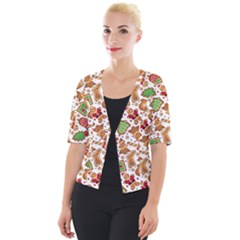 Christmas Love 6 Cropped Button Cardigan
